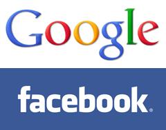 Google logo Facebook logo