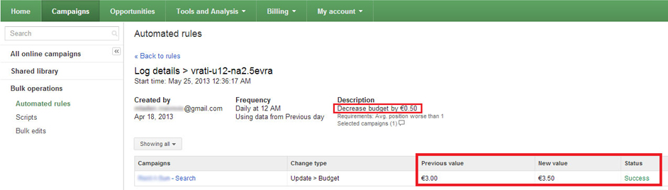 Google-Adwords-Bug-Automated-Rules